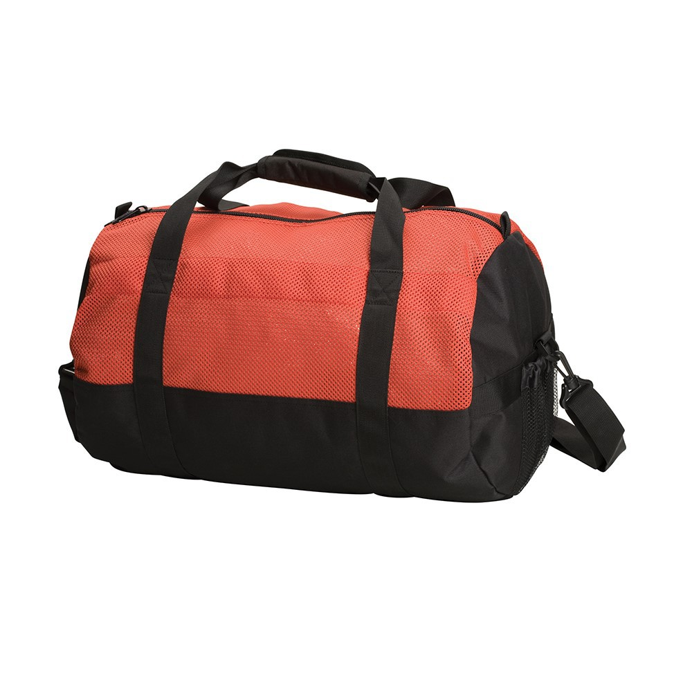 MESH TOP ROLL BAG - 12 IN X 20 IN - RED/BLACK #17008-60