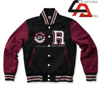 Custom varsity man bomber jacket,woman fleece softshell winter jackets from wholesale clothing market