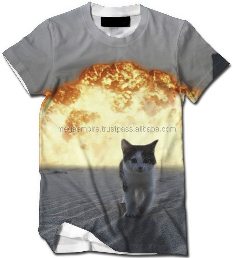 Fire Cat Design T-Shirts/ All-Over Sublimation T-Shirts And Tanks/ Order All Over T Shirt Printing Online