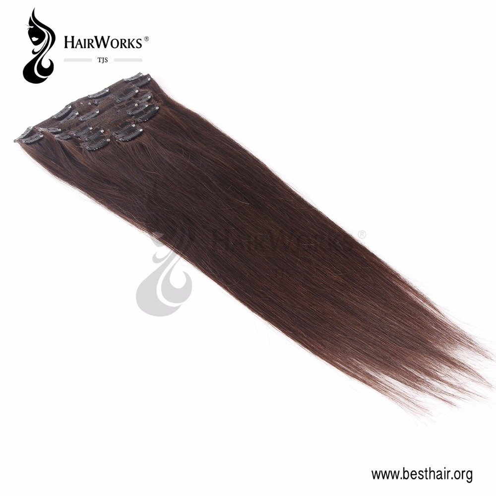 Luxury the highest quality 100% virgin Remy Peruvian human hair clip in hair extensions