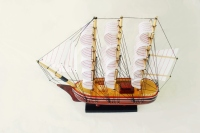 SMALL WOODEN BOAT MODEL - HANDICRAFT PRODUCT, AMAZING DECORATION