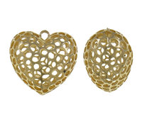 Zinc Alloy tal Alloy Zamak Heart Pendan Ch Charms Pendant gold color plated plating