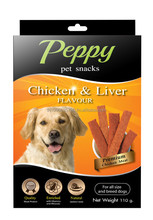 Peppy Pet Snack - Dog snack - Chicken & Liver Flavour