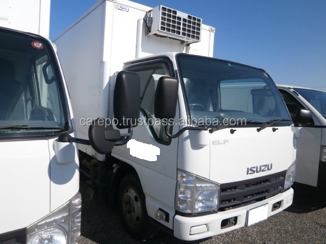 USED RIGHT HAND DRIVE VAN ISUZU ELF TRUCK BKG-NKR85AN 2009 WITH REFRIGERATOR & FREEZER