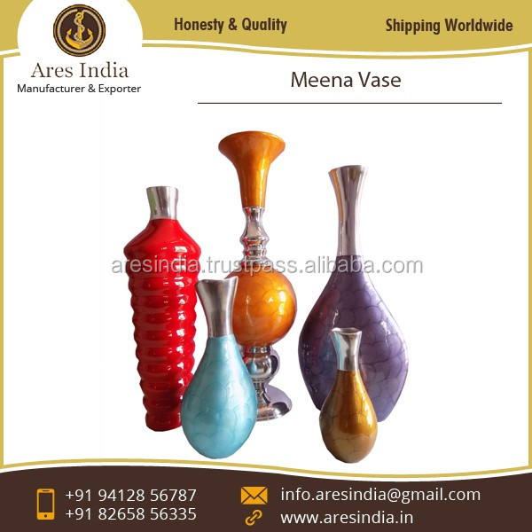 Designer Metal Meena Vase Available at Affordable Rate