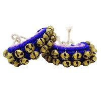 Classical Dancing Velvet Ghungroo Anklet Traditional Ethnic Jewelery Gift For Women