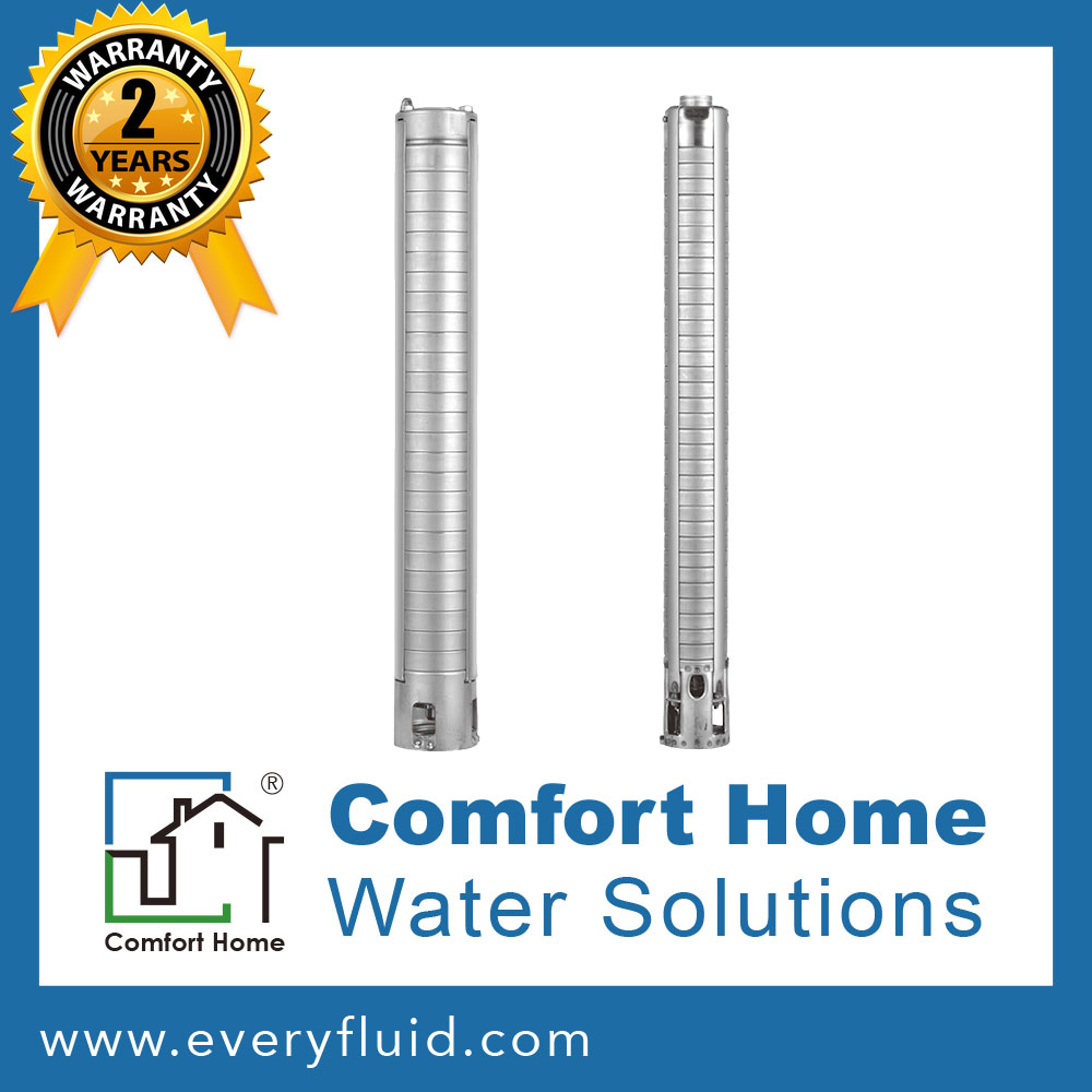 4 inch All Stainless Steel Submersible Centrifugal Pump - Comfort Home 4SD series - 60Hz