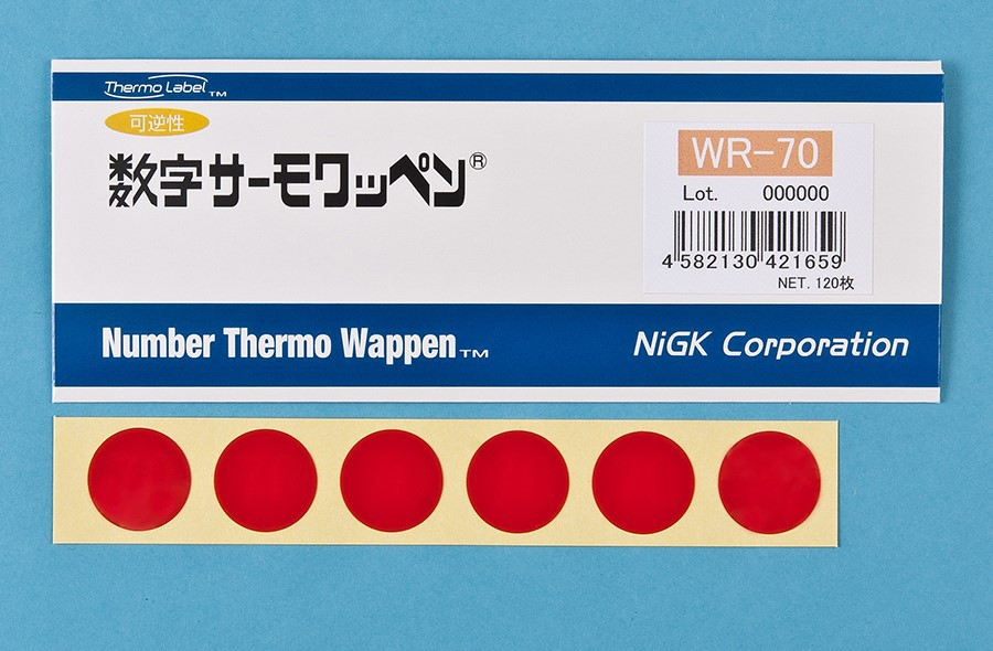 Thermo indicating label/Reversible temperature indicator/Digital indication