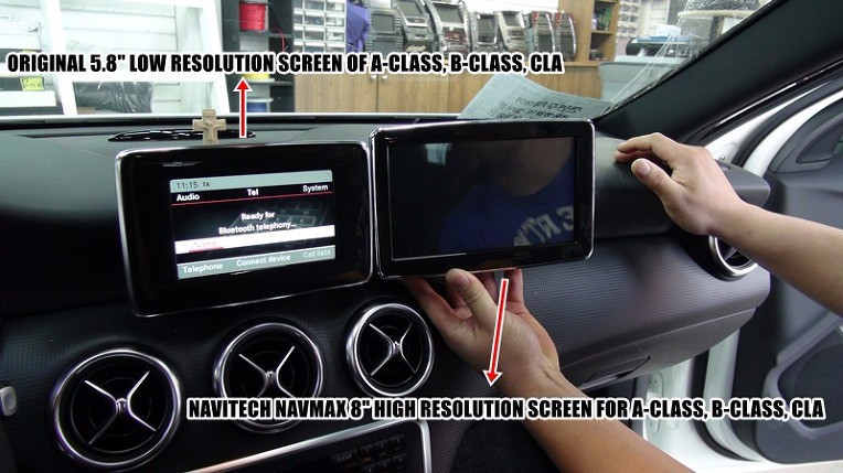 "MERCEDES BENZ NEW A, B, CLA, GLA, G NAVMAX 8"" VIDEO INTERFACE MONITOR"