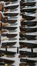 Damascus Steel Fixed Blade Stock Knives