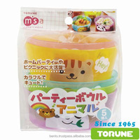 Party Plate Set 5P/ Fun and cute plastic plate set torune bento with cute design