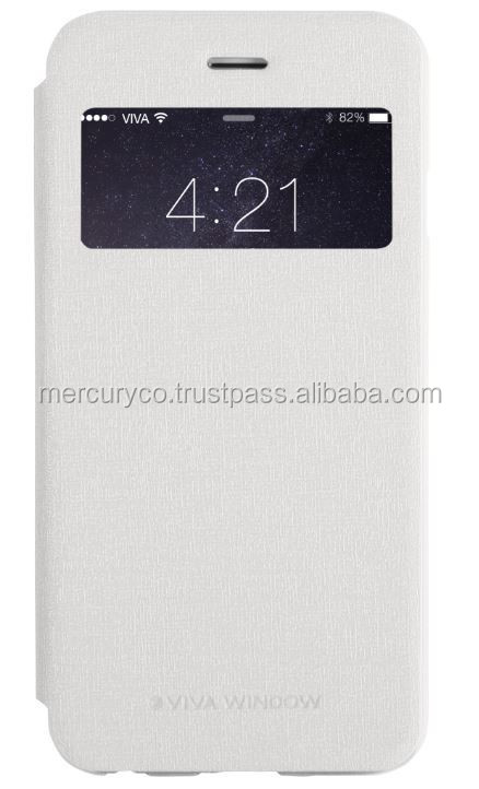 Mercury Viva Window mobile flip case (White)