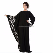 Black and white abaya