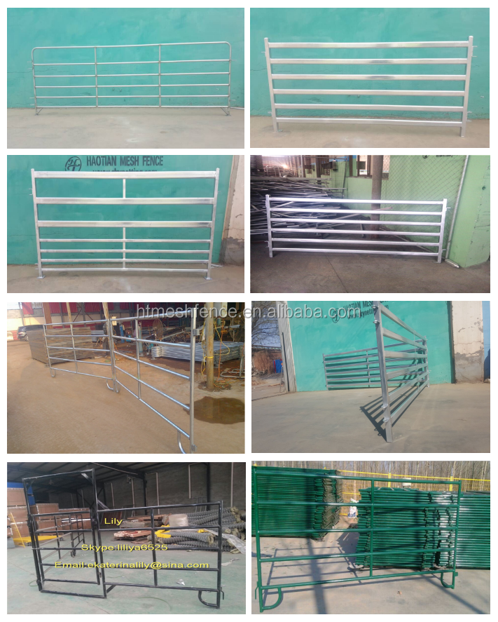 Portabl Cattle Panels 1.8mHX2.1mW economical metal pipe fencing panel for keeping livesock cow/bull/in pre hot gavanized quality
