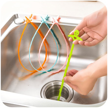 Cheap Kitchen Tools Pipe Drain Cleaners Hair removal Sewer Tub Cleaning Snake Anti Clogging Floor Wig Removal Clogs Tools