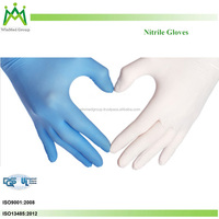 2016 new product High quality Disposable Nitrile Examination Gloves Safety Medical powder free nitrile Gloves