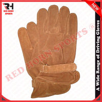 Sheep Split Leather Driving Gloves, Work Gloves, Thermal insulation makes your hand extra warmth