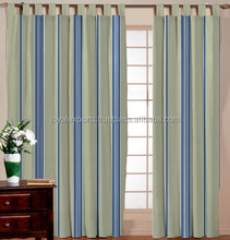 RING TYPE OF VARIOUS WINDOW CURTAIN / EYE LITE FIXED COMPACT STRIPED WINDOW CURTAIN