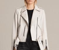 Ladies New Stylish Motorcycle Leather Jacket-Custom Made Biker Leather Jacket-Genuine Buffalo Leather