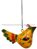 IRON PAINTED HANGING BIRD