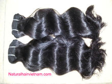made in vietnam product with style straight, curly ...hair accessories curly virgin hair used machine products to sale