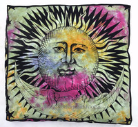 "Indian Tie & Dye Floor Pillowcases Bohemian Mandala Ottoman Square Pouf Oversize Seating Dog/Pet Bed 35"" Sofa Cushion Cover"