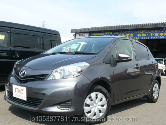 used cars right hand drive japanese toyota with Good Condition VITZ F 2013 made in Japan