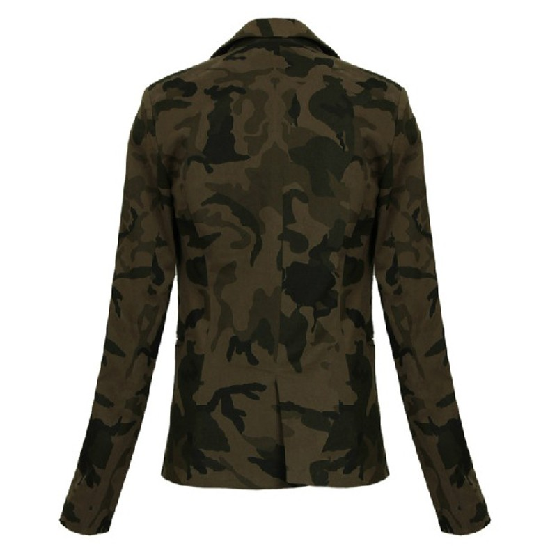 Ladies High Quality COOL Printed Camo Style Outdoor Cotton Jacket