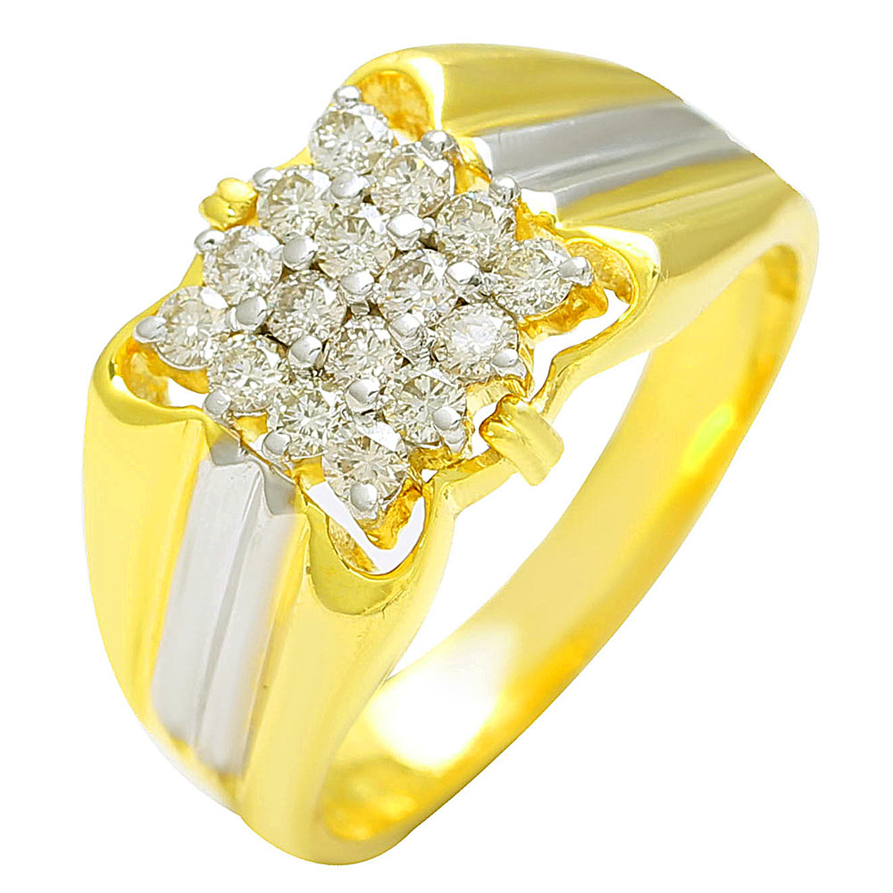 16 piece 14k gold Diamond ring for gents