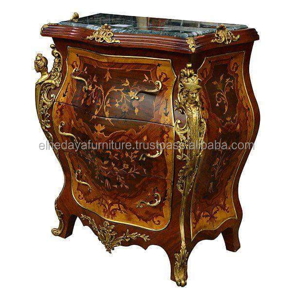 marquetry antique commode