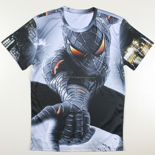 New Stylish Sublimation T-Shirts Men Font B Spiderman/ Custom 100% Polyester Printing T Shirt Wholesale