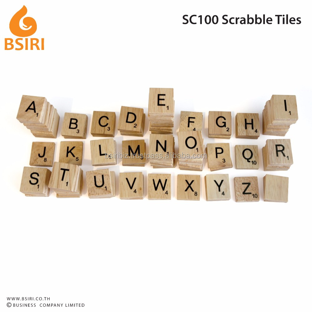 100 wooden scrabble tile scrabble key chain