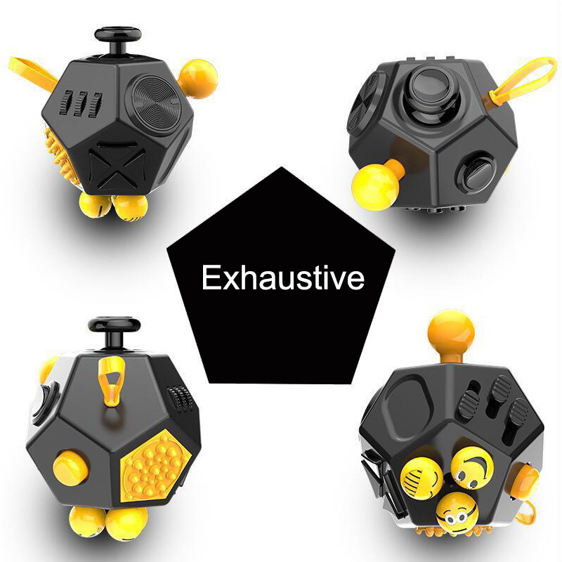 Newest Fidget Cube Two Vinyl Desk Toy 2017 Fidgets Cubes Anti Irritability Toy Magic Cobe Funny Christmas Kid Gifts