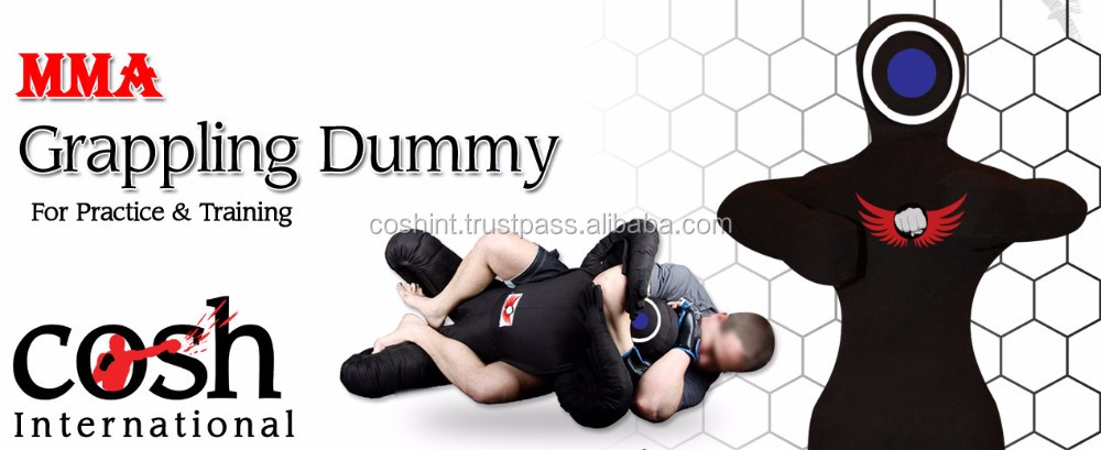 All Black Double Face Standing Condition MMA Grappling Dummy, Cosh international Supplier of Jiu Jitsu Dummies,DU-7543-F