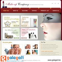 Shopping Cart Website Design and Development Service with Free Web Hosting for Cosmetics - www.theme4biz.com