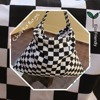 Shopping tote bag , cotton bag with chess print