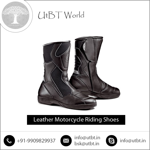 Optimum Performance New Condition Leather Motorcycle Riding Shoes in Stock for Sale