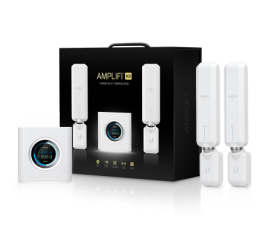 UBNT AMPLIFI HD HIGH DENSITY HOME WI-FI SYSTEM WITH ROUTER AND 2 X MESH POINT AFI-HD