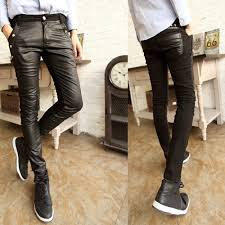 Fashionable Men Leather Pants For Motorbike