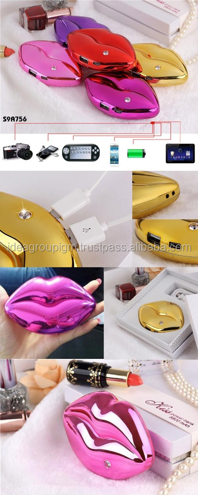 Kiss Mobile Charger Power Bank 4400mAh many models powerbank recharing mobile phone customized shape and logos