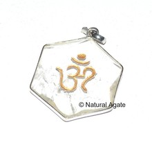 Pentgram Crystal Om Pendants