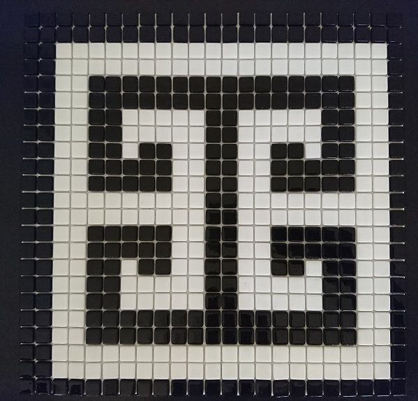 Symbol Black High Quality Glass Mosaic