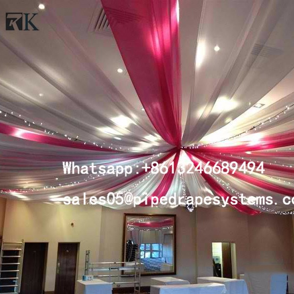 Stand Pipe and Drape Wedding Tent Wall Backdrop Ceiling Drapes Kits LED Star Automatic Curtain Event Manufacturer