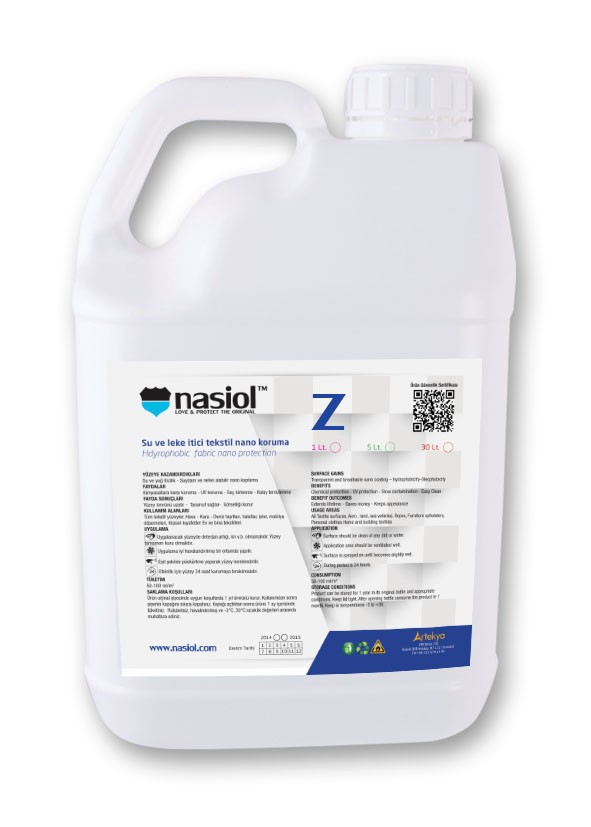 Hydrophobic nano coating for mineral surface Nasiol Z, 5 lt