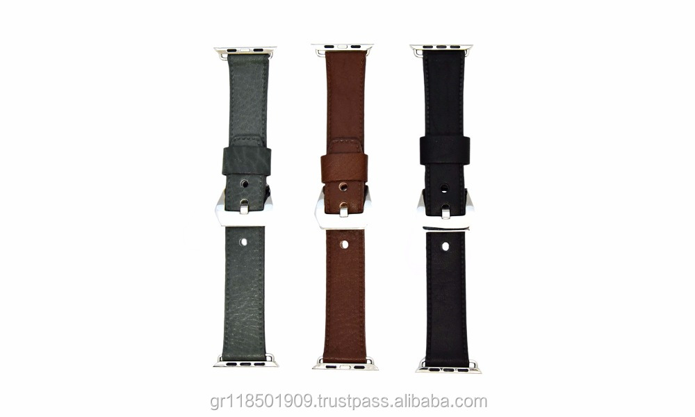 High Top Quality leather watch strap for smart watches