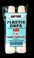 Disposable 7oz Plastic Translucent Cups LIQUORS/BARS/RETAIL STORES
