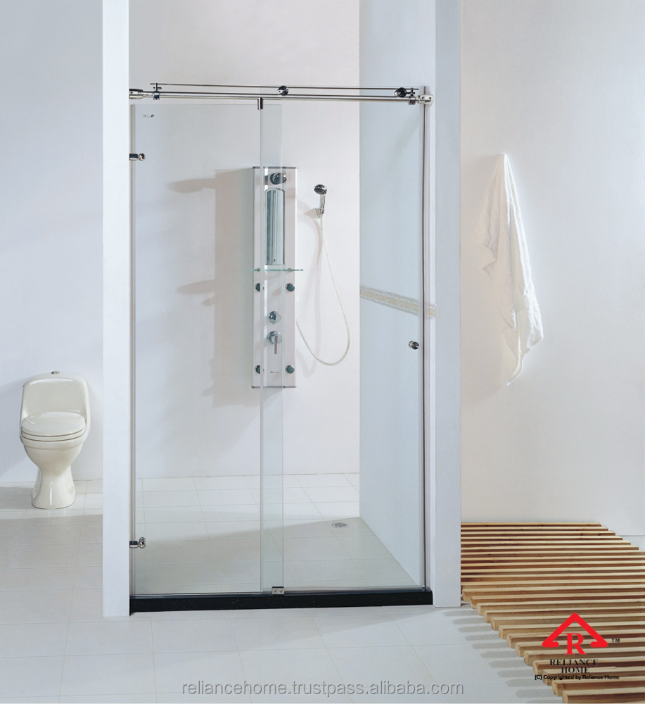 Reliance Home SLIDING FRAMLESS HALF ROUND SHOWER TUBE