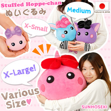Comfortable Hoppe-chan design cushions for cuddling in various colors