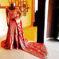 Heavy Embroidered Pakistani Traditional Bridal Dresses , Pakistan Red Bridal Lehenga , Bridal Wear Pakistan designers