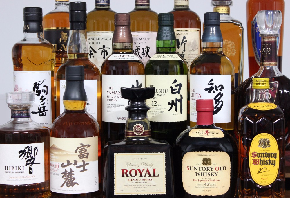 High-quality private label whiskey from Japanese distributor , sake also available